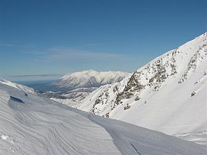 Mount Olympus Ski Area - View to the SE, from the Ski Area