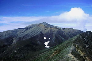 Mount Tokachi (Daisetsuzan) - Mount Tokachi is Volcano, seen from Mount Biei