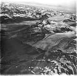 Muir and Cushing Glaciers, terminus of valley glacier and hanging glaciers, August 31, 1977 (GLACIERS 5725).jpg