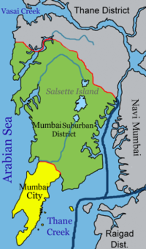 Mumbai Harbour - The harbour east of the city