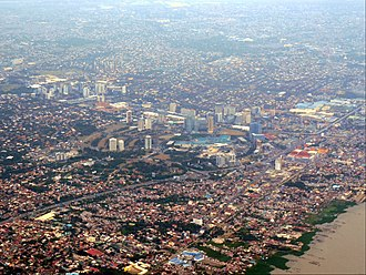 Muntinlupa - Aerial view of Muntinlupa, with Filinvest City in Alabang on the foreground