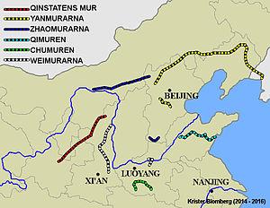 Den Kinesiske Murs Historie Wikipedia S Kinesiska Murens