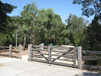 Murrumbeena, Victoria - Entrance to Boyd Park which was named for the potter Merric Boyd