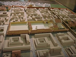 Piazza della Repubblica, Florence - A speculative reconstruction of the Forum and surrounding buildings (Museo di Firenze com'era)