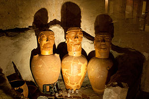 Canopic jar - Etruscan canopic jars