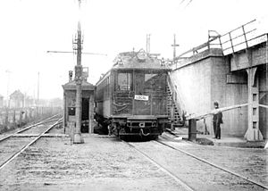 Austin station (CTA Green Line) - The original Austin station in 1909