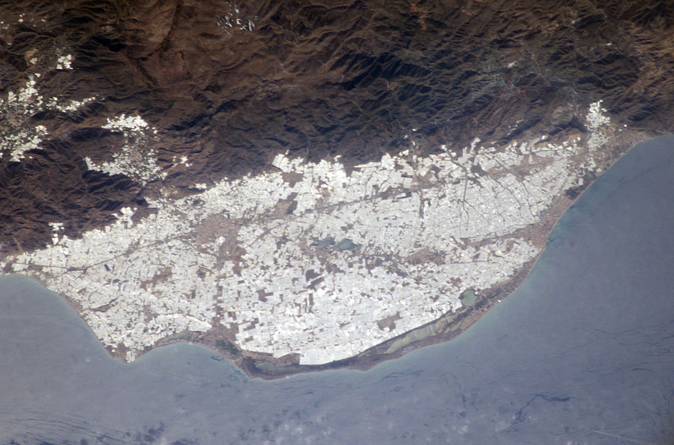 NASA photo of plasticulture, Campo de Dalías, Spain