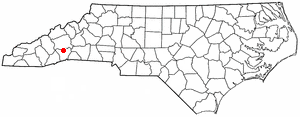 Fletcher, North Carolina - Image: NC Map doton Fletcher