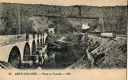ND 42 - ARCY-SUR-CURE - Ponts et Tunnels