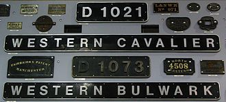 British Rail Class 52 - Name and numberplates at the National Railway Museum