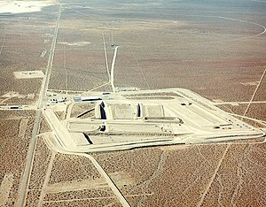 English: Nevada Test Site, Area 5. Aerial View...