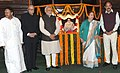 Narendra Modi, the Speaker, Lok Sabha, Smt. Sumitra Mahajan, the Union Minister for Urban Development, Housing and Urban Poverty Alleviation and Parliamentary Affairs.jpg