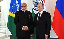 Narendra Modi and Vladimir Putin meet before the 2015 G-20 Antalya summit.jpg