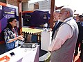 Narendra Modi and the Prime Minister of Israel, Mr. Benjamin Netanyahu visiting the Startup Exhibition and interacting with innovators and Startup CEOs at iCreate Center, at Deo Dholera Village, in Ahmedabad, Gujarat (2).jpg