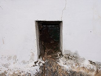Battle of Pollilur (1780) - Image: Narrow Passage at Baillie Dungeon, Seringapatam