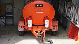 Narsaq Heliport - Image: Narsaq heliport fuel truck