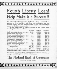 Image of advertisement for the sale of Liberty Bonds