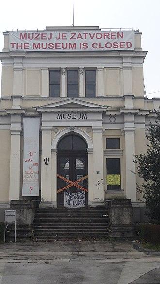 National Museum of Bosnia and Herzegovina - National Museum of Bosnia and Herzegovina - posters on entrance