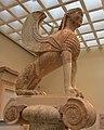 Naxian Sphinx, Delphi, Greece, ca. 570 BC - ca. 560 BC (9656910348).jpg