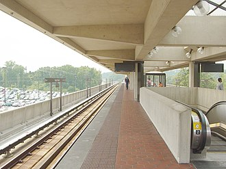 Green Line (Washington Metro) - Naylor Road Station in Prince George's County, MD