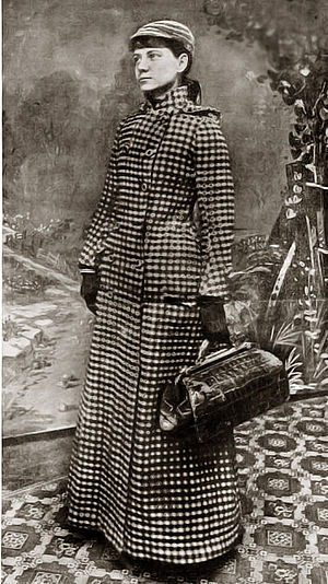 Nellie Bly - A publicity photograph taken by the New York World newspaper to promote Bly's around-the-world voyage