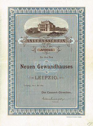 Gewandhaus - Image: Neues Gewandhaus 1884