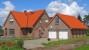 Single-family detached home - Typical single-family home in Northern Germany.