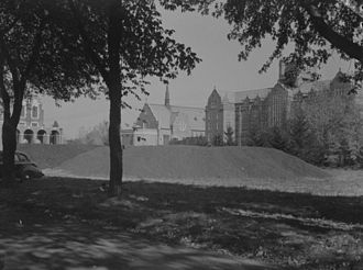 Loyola College (Montreal) - Loyola College in 1943 with stored coal in front