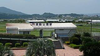 railway station in Miyazaki, Miyazaki, Japan