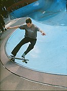 Nicholas Deconie frontside five-0 at Millennium Skate Park, Owl's Head Park.jpg