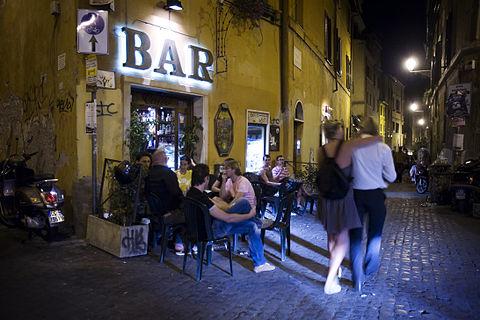 Night life at Trastevere Rome