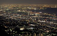 Night view of Osaka bay