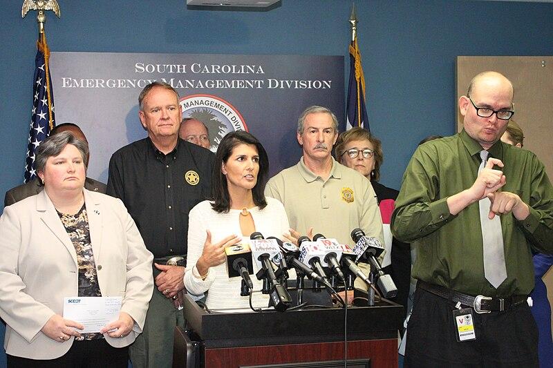 File:Nikki Haley Hurricane Matthew Press Conference 12 (29633729923).jpg