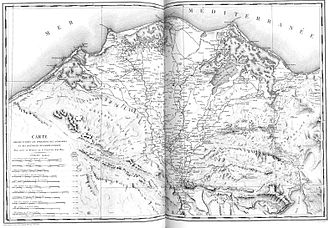 Description de l'Égypte - Map of Lower Egypt during the expedition of Napoleon, to be used for the report on the Canal between two seas.
