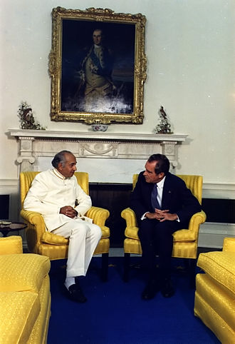 Zulfikar Ali Bhutto - Richard Nixon and Bhutto in 1973