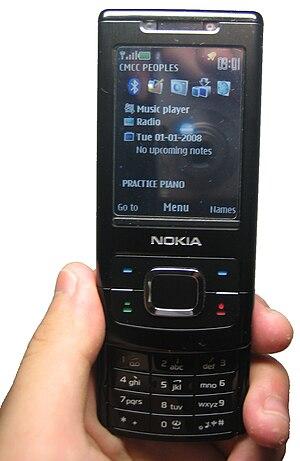 Nokia 6500 slide - Image: Nokia 6500Slide Open