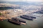 Norfolk naval base aerial 1985