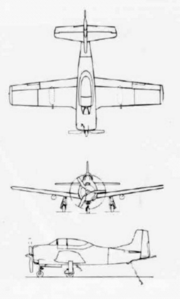 North American T-28C line drawings