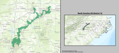 North Carolina's 12th congressional district - since January 3, 2013.