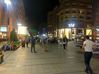 Northern Avenue, Yerevan - The Avenue at night