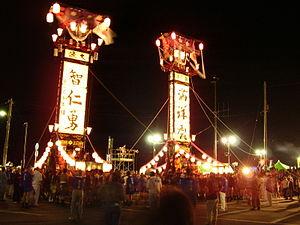 Nanao, Ishikawa - Ishizaki Kiriko Lantern Festival in August
