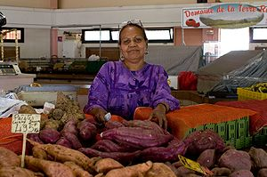 Woman at Noumea market