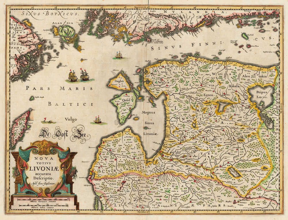 Karte Livland 1642