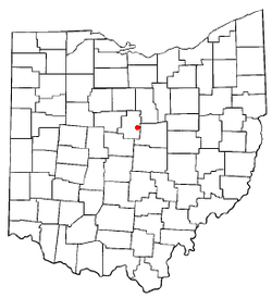 Location of Chesterville, Ohio