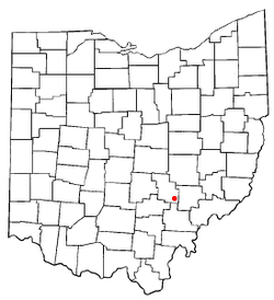 Location of Corning, Ohio