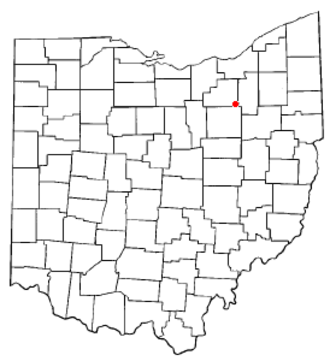 Wadsworth, Ohio - Image: OH Map doton Wadsworth