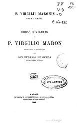 Virgilio: Español: Obras completas de P. Virgilio Marón