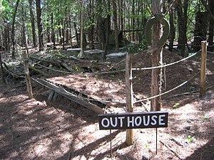 Occoneechee Speedway - Image: Occoneechee outhouse