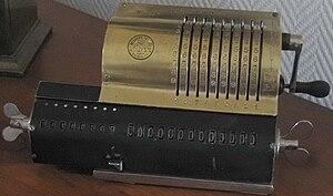 Odhner Arithmometer - Image: Odhner made before 1900