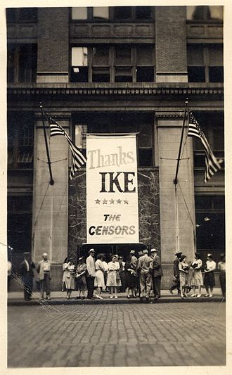 Office of Censorship - Manhattan Federal Building with Office of Censorship at 252 7th Avenue in 1945